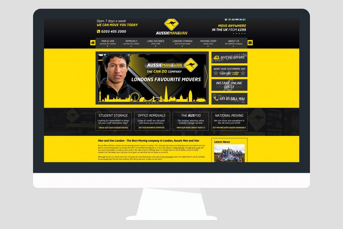 Website Design for London removals