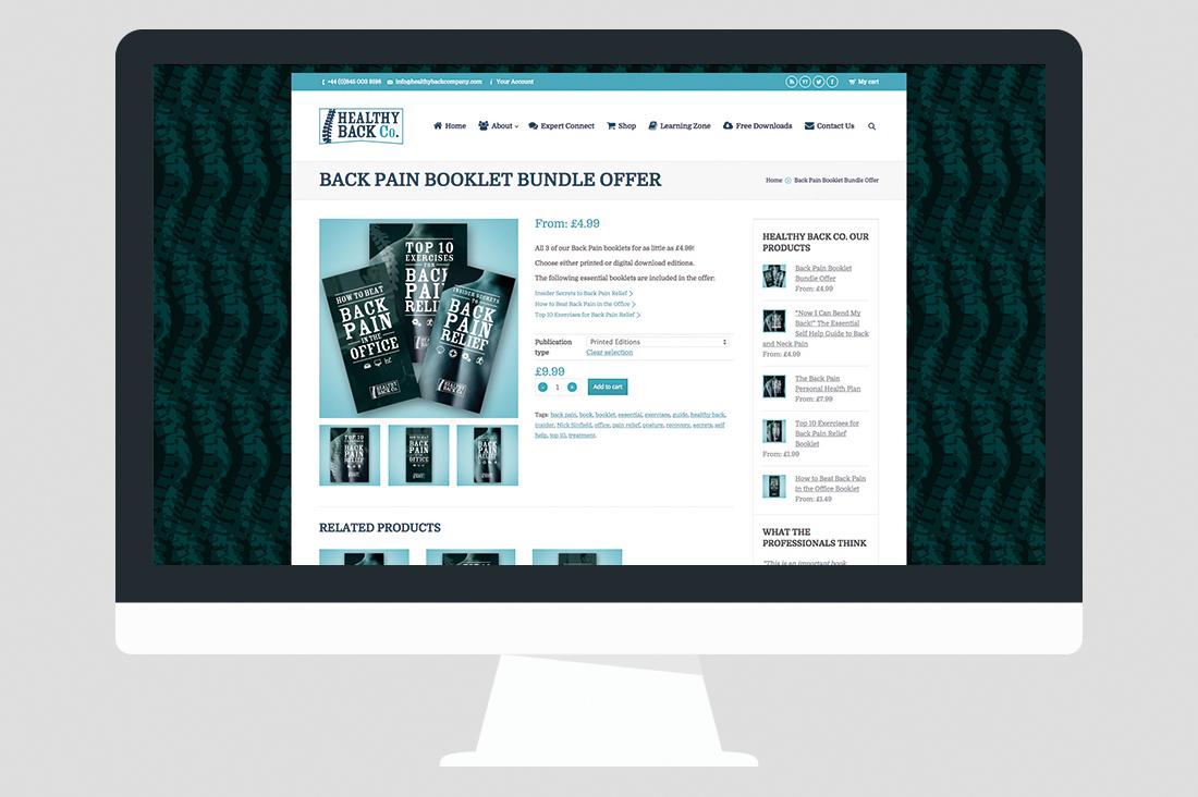 Back Pain Website Design 03