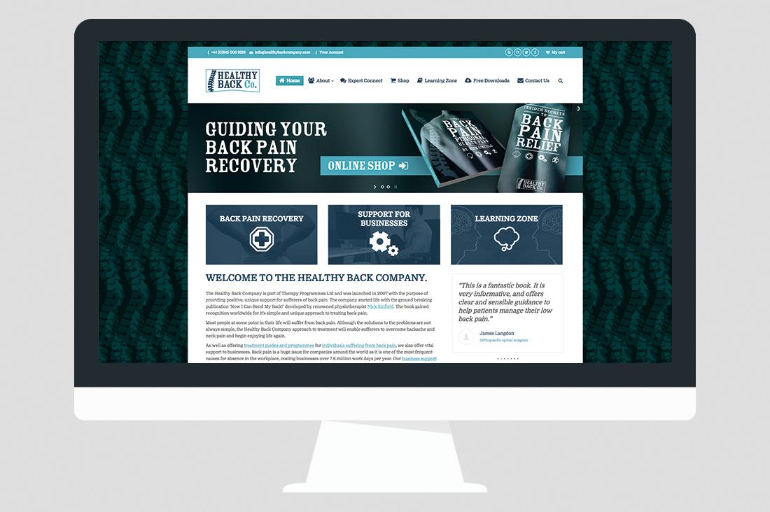 Back Pain Website Design 01