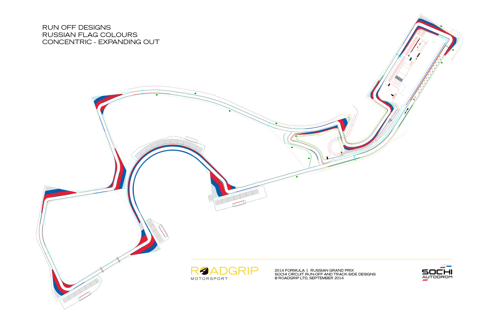 Sochi Autodrom Formula 1 Circuit Markings Design Sam Cranwell Diagrams Visualisation And Of Run Off Area Graphics Track Edges For Autodroms First Hosting The Grand Prix