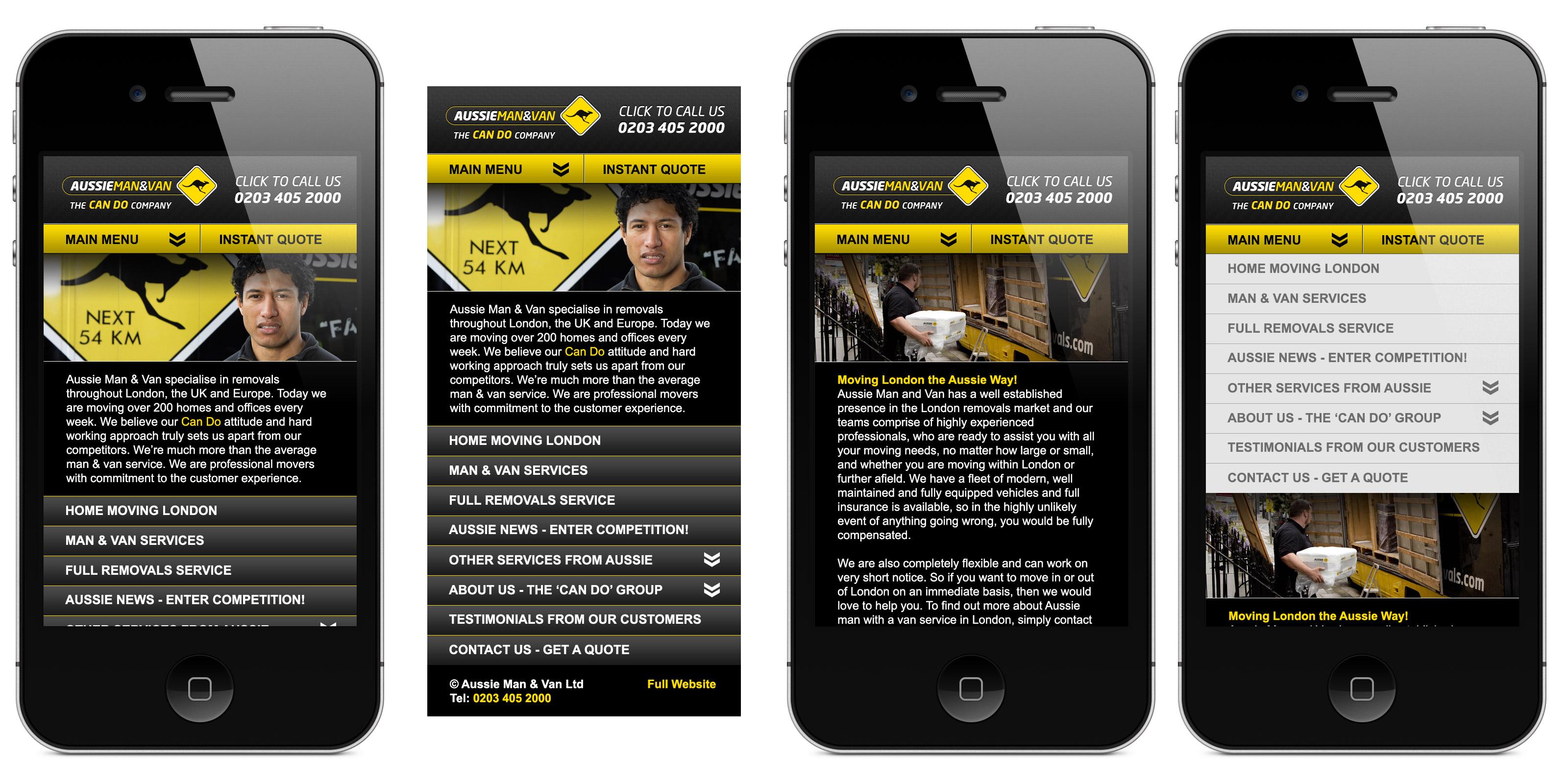 Aussie Man & Van App Design