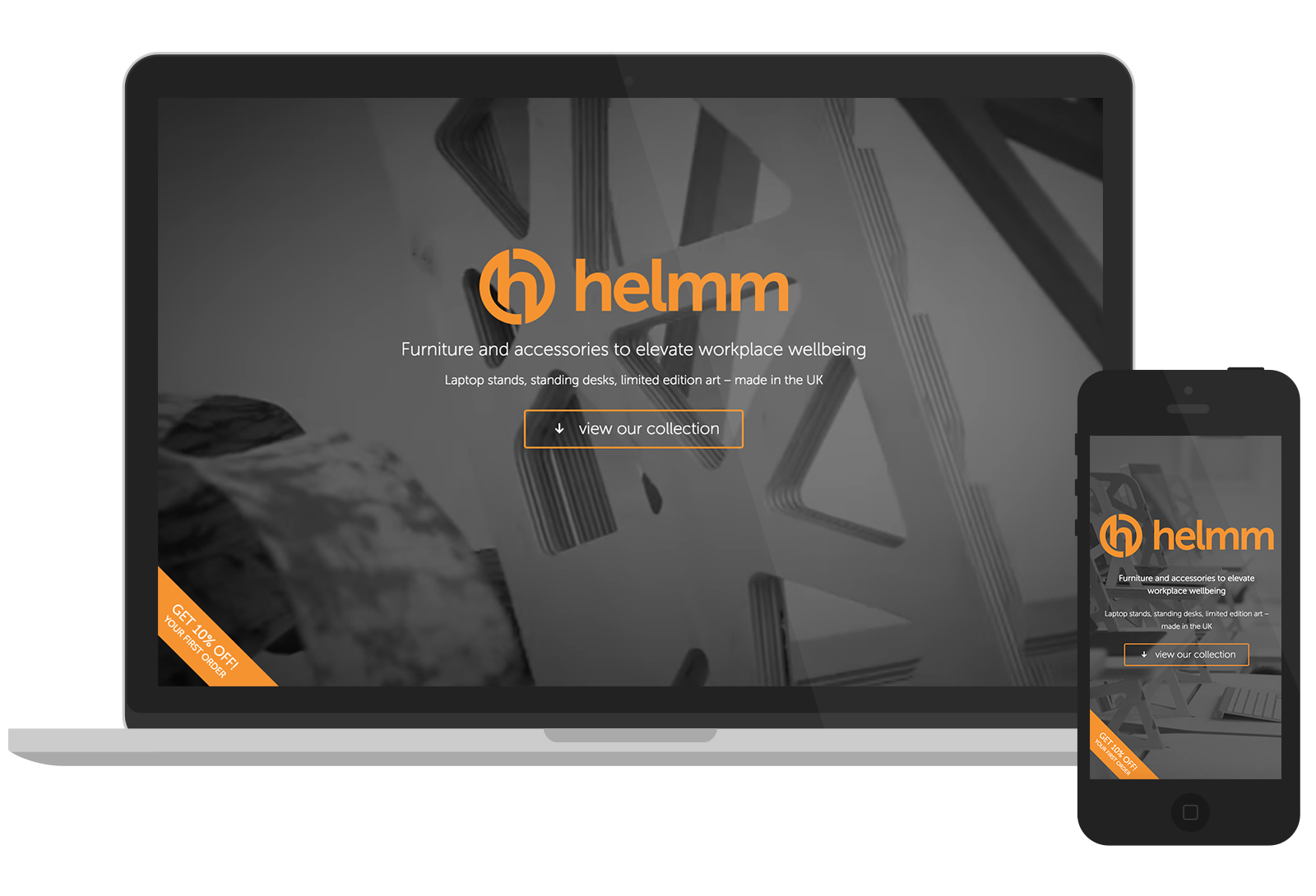 Helmm - Website design for Buckinghamshire products