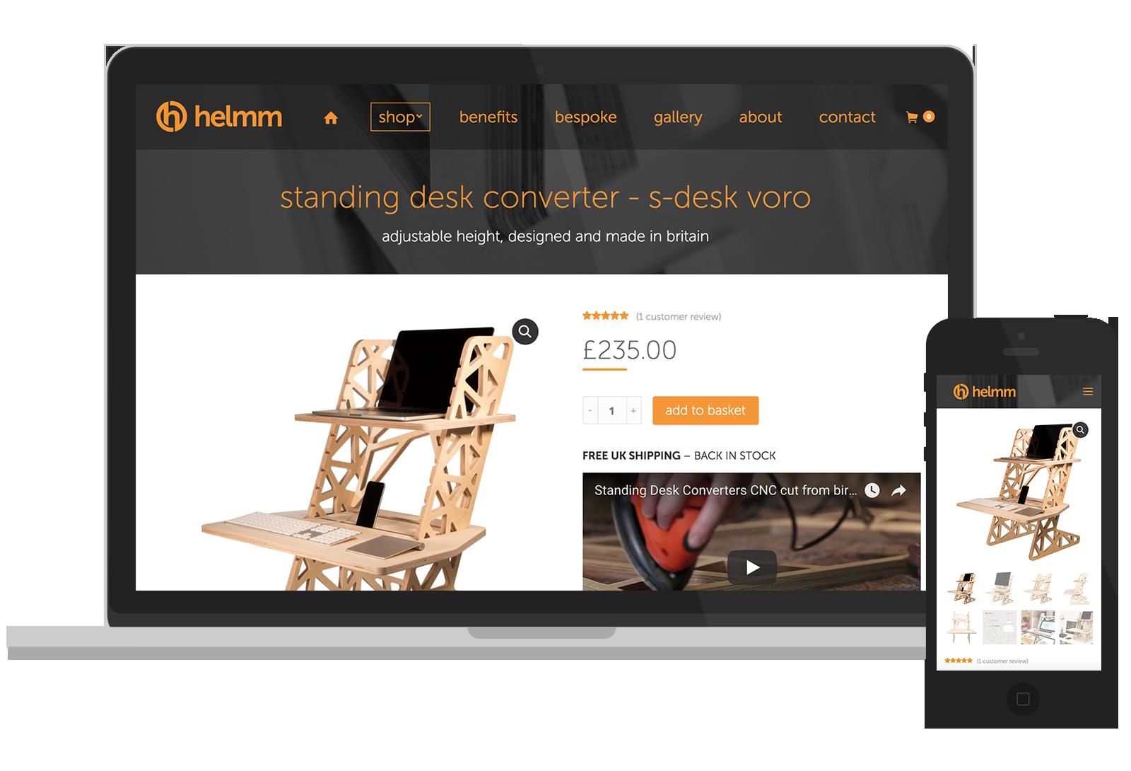 Helmm - Website design for Buckinghamshire company