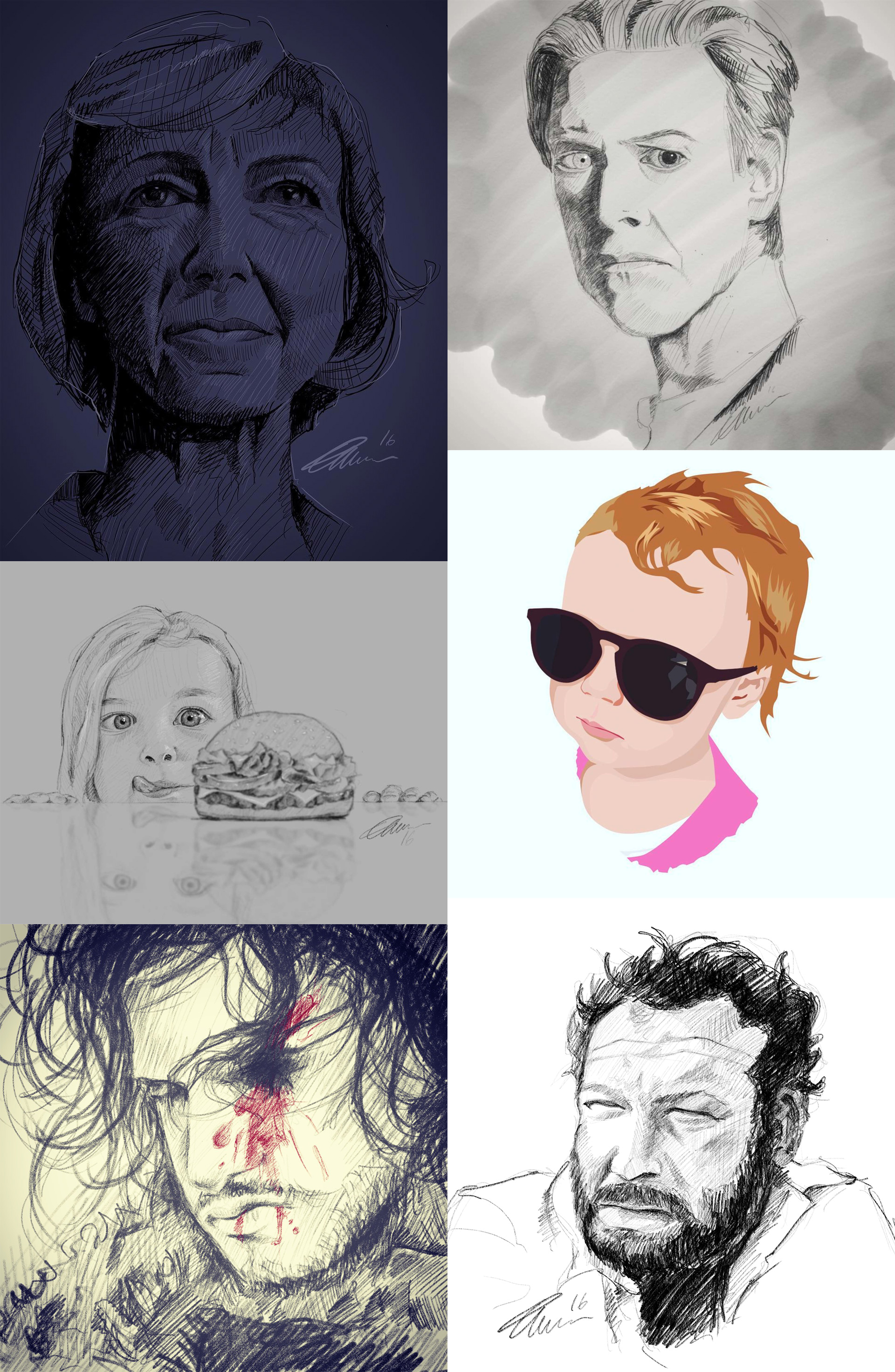 Illustrator and sketch artist from Buckinghamshire