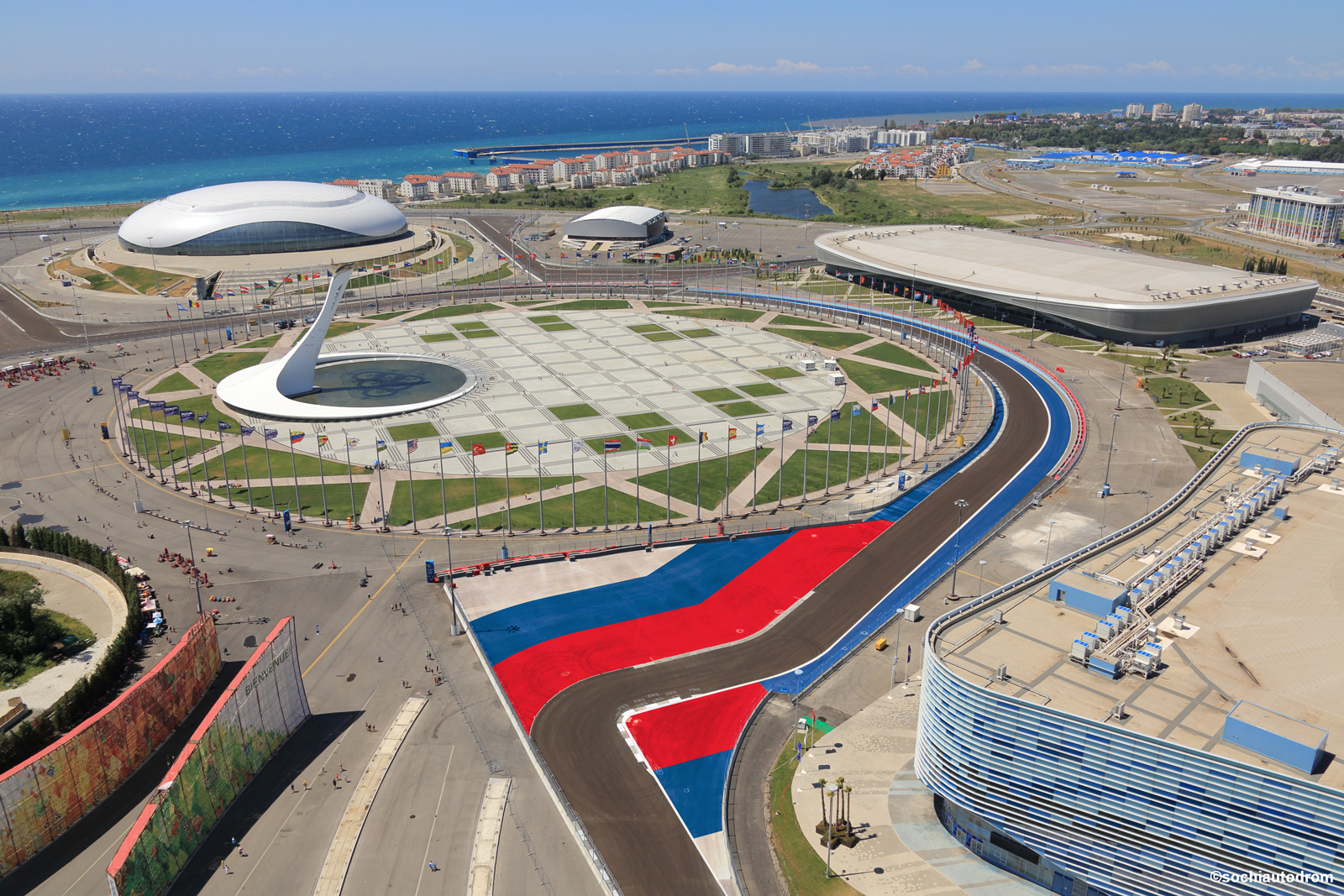 Sochi Formula 1 - circuit graphics